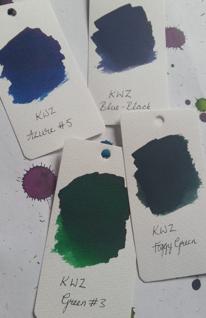 KWZ ink: Azure #5, Green #3, Foggy Green, Blue-Black reviews